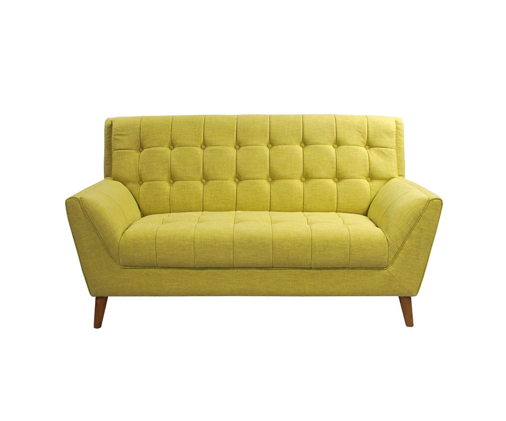 Elwood 2 Seater Sofa In Lime Green Puzzle Furniture